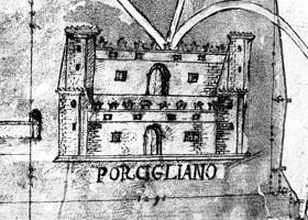 Pianta del Castello e Territorio di Porcigliano nel 1660