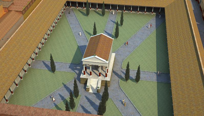 Ricostruzione di Angelo Coccettini | colonia-ostiensis.com per gentile concessione