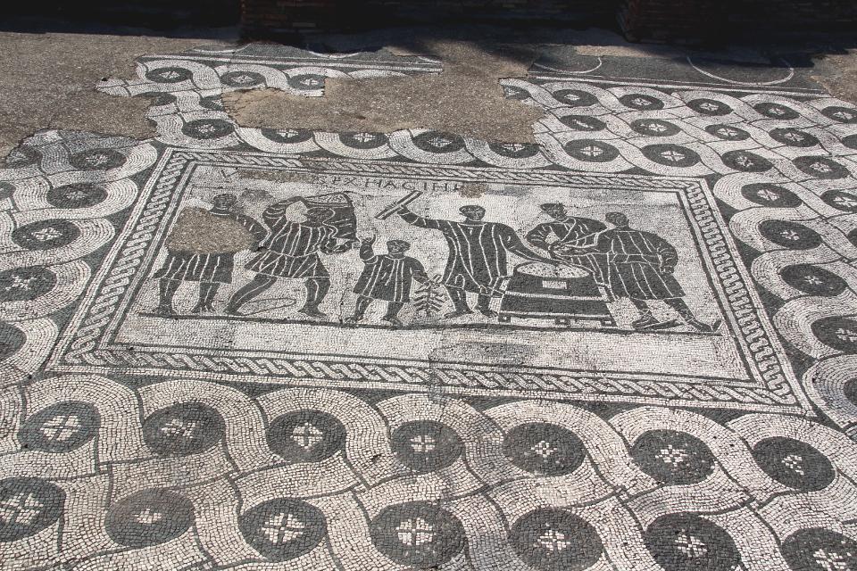 Il mosaico dell'Aula dei Mensores