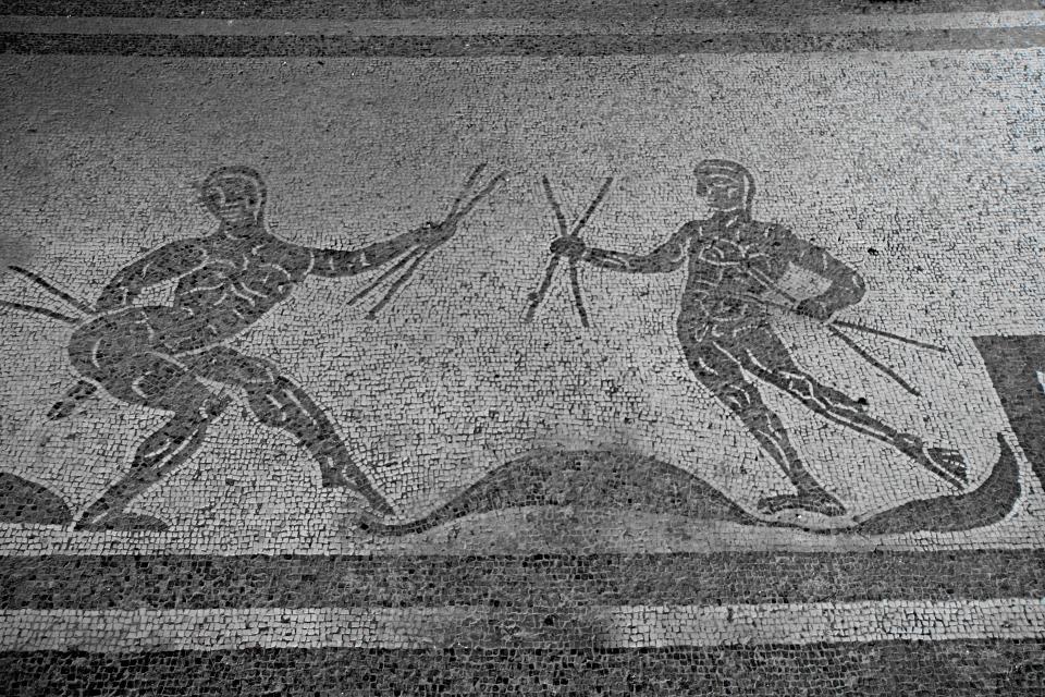 Caupona di Alexander e Helix, mosaico del bar -[Klaus Heese]
