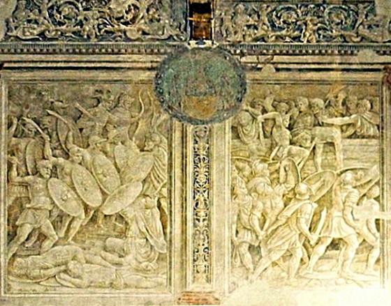Affreschi di Baldassarre Peruzzi nell'episcopio