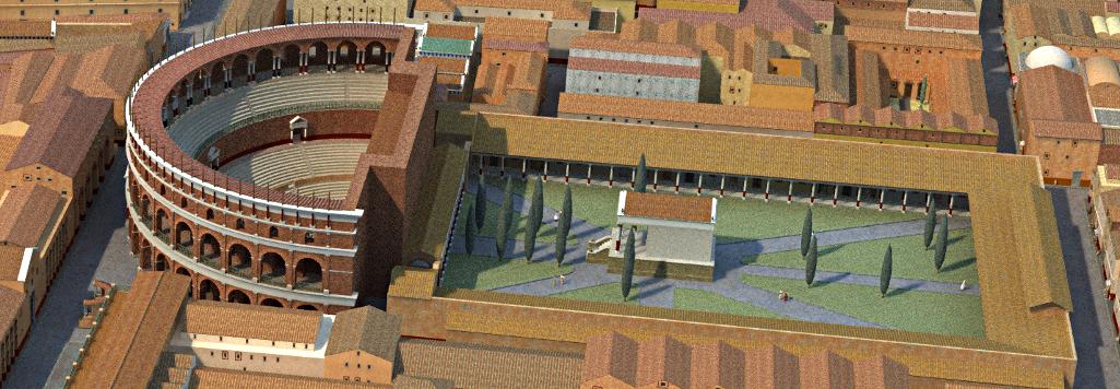 Ricostrizione teatro di Ostia Antica