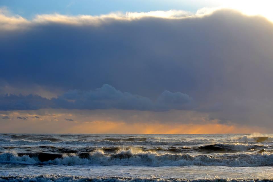 Il mare di Ostia a gennaio