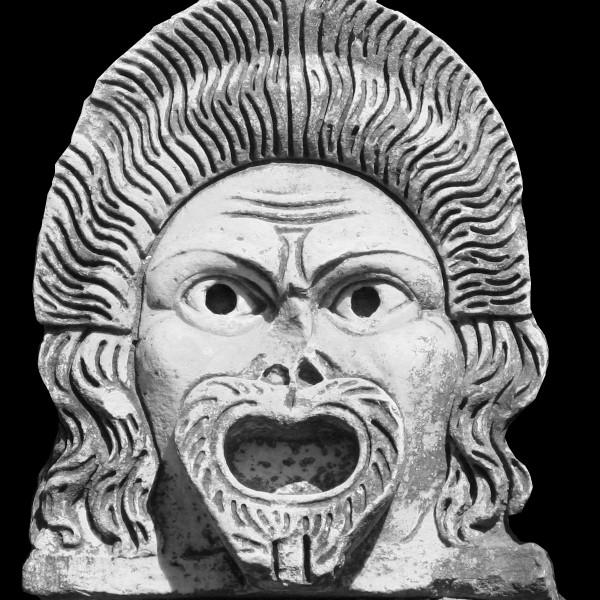 Maschera teatrale dalla decorazione del teatro di Ostia