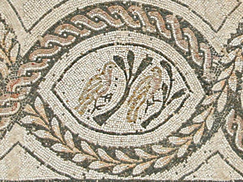 Particolare del mosaico del giardino