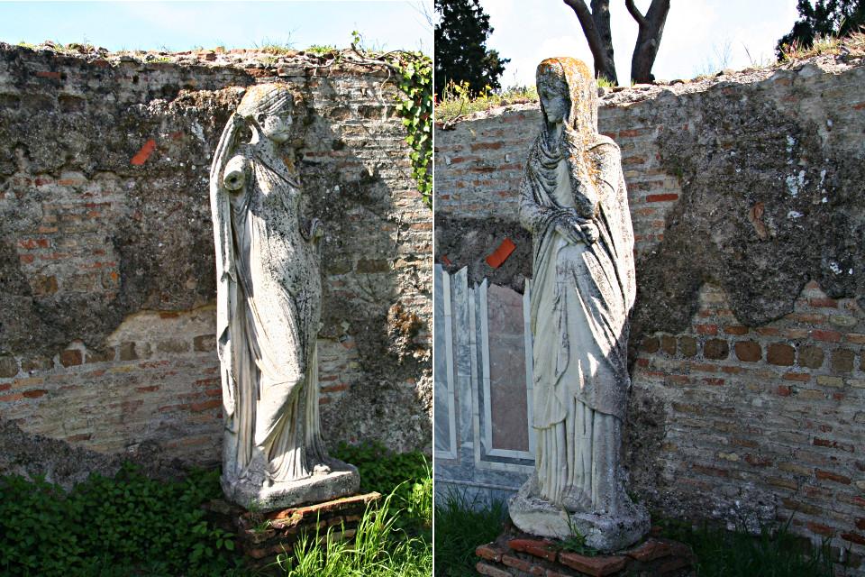 Statue funerarie raffiguranti personaggi femminili di Ostia