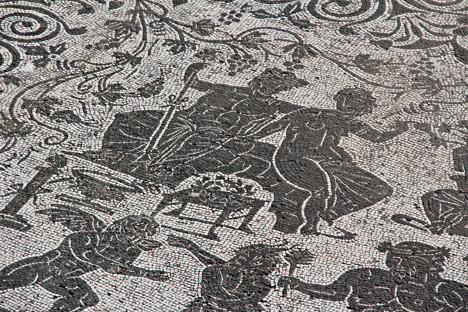 Particolare del mosaico di Bacco e Arianna