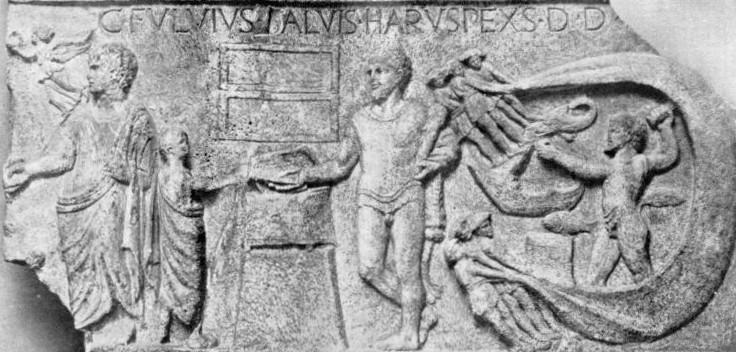 Immagine tratto dal Bullettino della Commissione Archeologica Comunale di Roma, LXVII, 1939. Giovanni Becatti: Il culto di Ercole a Ostia e un nuovo rilievo votivo.