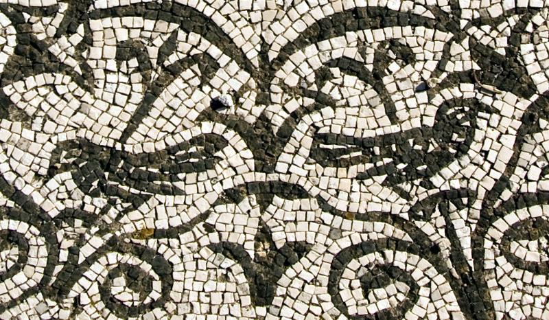 Particolare del mosaico della Medusa