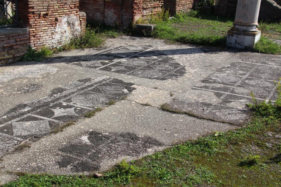 Mosaico pavimentale dell'ambiente accanto al frigidarium