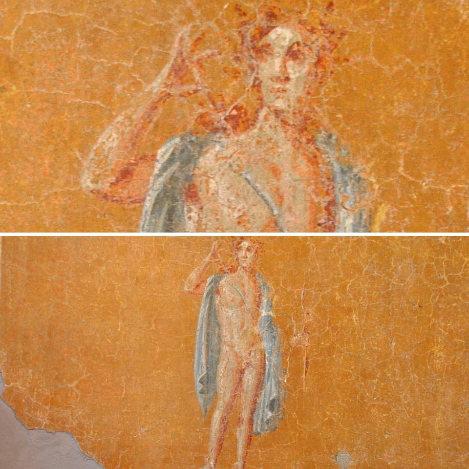 Apollo raffigurato come arciere