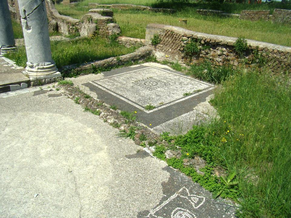 Mosaico, Sinagoga Ostia Antica [Wolfram Grajetzki]